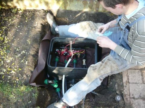 Propojení elektromagnetických ventilů